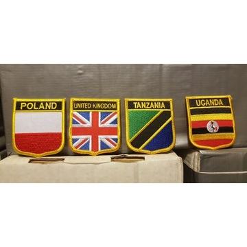 Naszywki Poland, United Kingdom, Tanzania, Uganda