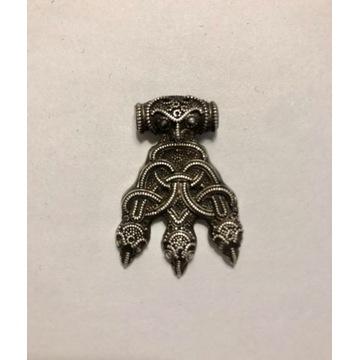 Wikiński naszyjnik z krukami - srebro 925
