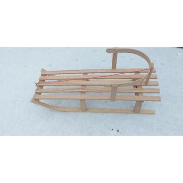 Sanki drewniane Bukowe mocne Gratisy