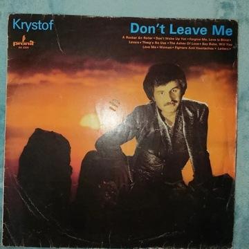 Krzysztof Krawczyk Krystof Don't Leave Me