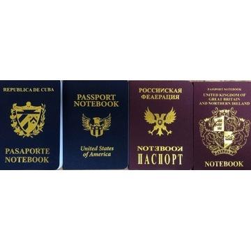 Notatniki SUMO imitacja paszportów