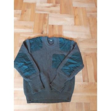 Męski wełniany sweter zimowy, khaki, Roz.S