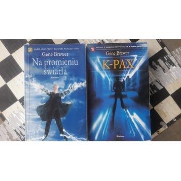 Książki pt K-PAX i Na promieniu światła