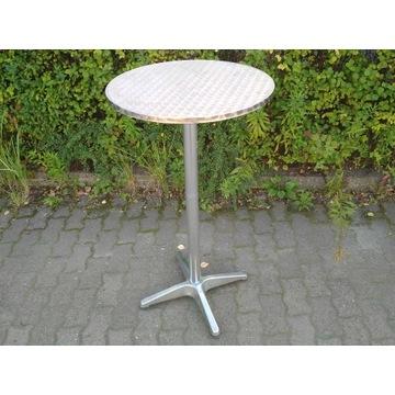 Stolik metalowy okrągły wysoki śr. 60 wys. 110 cm