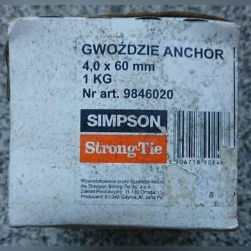 Gwoździe ciesielskie ANCHOR StrongTie 4,0x60mm 1kg