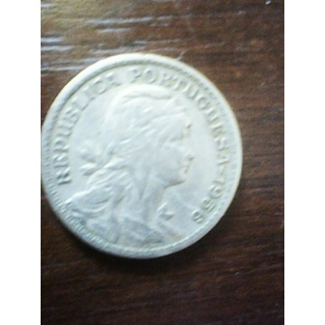 Portugalia 50 centavos, 1958