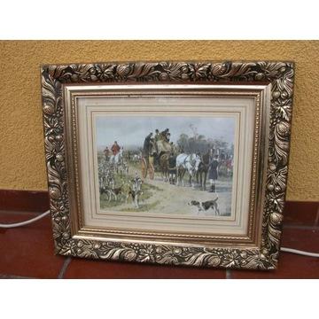 obraz oleodruk o wym - 36/42,5cm konie
