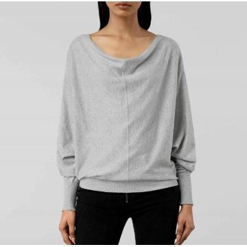 AllSaints Ellie__Cienki szary sweterek __38