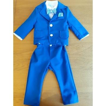 Garnitur okazjonalny dla chłopca kolor niebieski