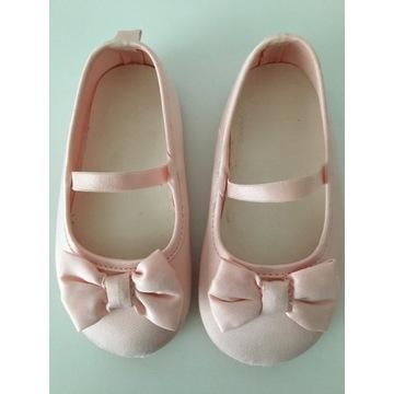 H&M balerinki różowe rozmiar 20/21 cena 10 zł