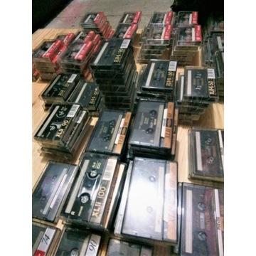 Mega zestaw 130 kaset magnetofonowych MAXELL