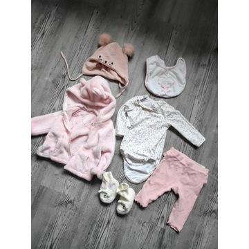 PAKA zestaw ubran dla dziewczynki r. 56/62, 35szt
