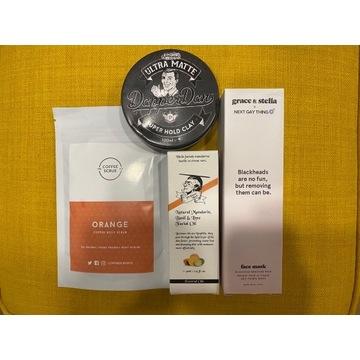 Zestaw kosmety: peeling, maska, olejek