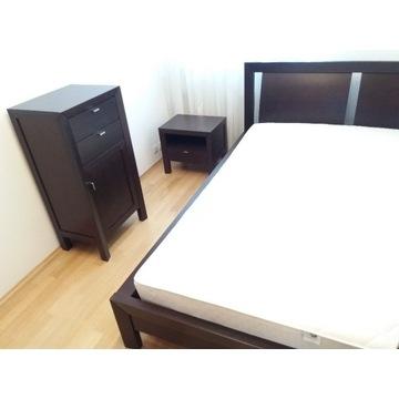 Rama łóżka-2 stelaże-materac-szafka nocna-komoda