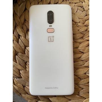 One Plus 6 8/128GB silk white sprawny