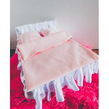 Duże łożko łożeczko dla lalki mebelek meble