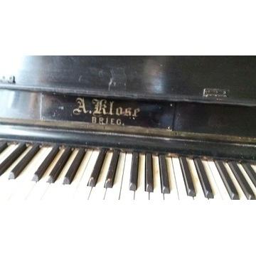 Pianino czarne A.Klose Brieg