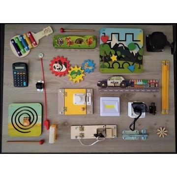 Kolorowa tablica manipulacyjna sensoryczna