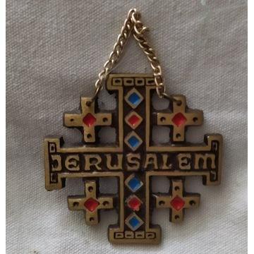 Krzyż pamiątkowy z Jerozolimy na ścianę