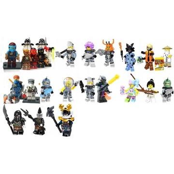 25 figurek ninja cryptor zan sensei ogromny zestaw