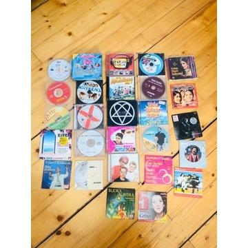 Płyty CD z muzyką, kilka filmów i na kompa