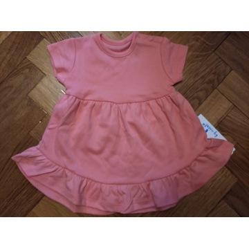 Śliczna bawełniana sukienka tunika 80