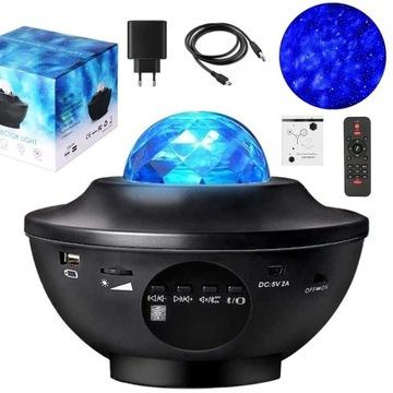 Projektor Gwiazd Fal 360 LED Lampka Nocna Prezent