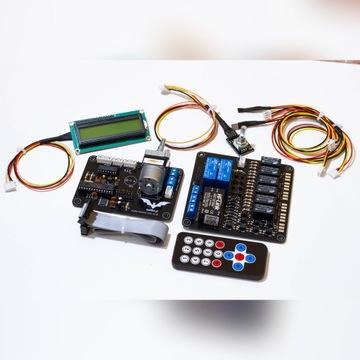 Selektor audio potencjometr wyświetlacz LCD CD DAC