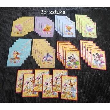 Pocztówki Kubuś Miki Księżniczki Disney święta