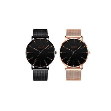 Elegancki zegarek na rękę minimalistyczny metalowy