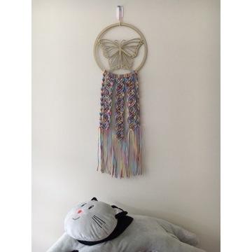Mandala - motyl - makrama do pokoju dziecięcego