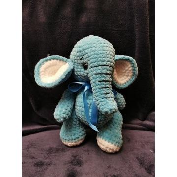 Prezent maskotka handmade słoń 30cm dla dziecka