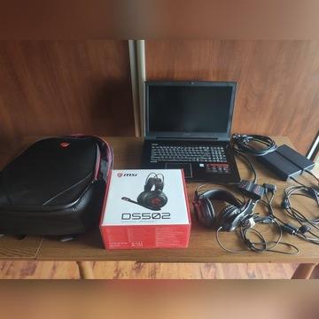 ZESTAW MSI Laptop+Plecak+Słuchawki
