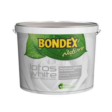 Farba biała bondex 10L lateksowa zmywalna 14m2/L