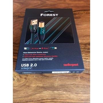 AudioQuest Forest USB - kabel USB A/B - 0,75m
