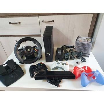 Xbox360 250gb,17 gier, pady, kinect, kierownica!