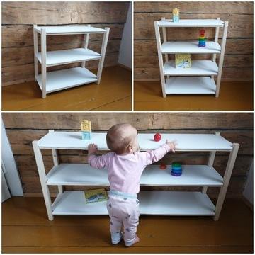 Regał szafka dla dziecka montessori drewniany