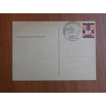 GG stempel okol. Fi 12 na karcie pocztowej