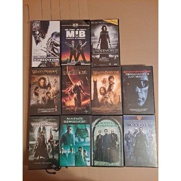 Zestaw kaset VHS akcja SF