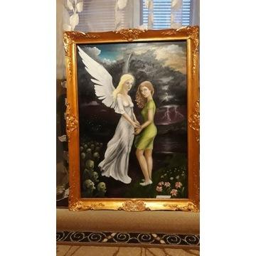 Duży obraz na płótnie ręcznie malowany
