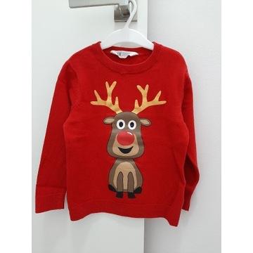 Sweterek świąteczny H&M r.110/116