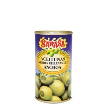 Hiszpańskie Oliwki nadziewane Anchois Sarasa