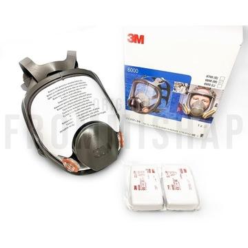 3M Maska 6800 Set z 6035 Wielorazowa P3 antywirus