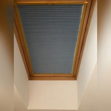 Rolety plisowane do okien dachowych szyte na miarę