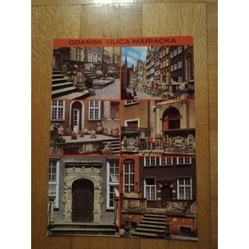 Gdańsk Ulica Mariacka duża  pocztówka z 1977 roku