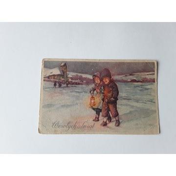 Karta Bożonarodzeniowa  zPRL 1949 r.