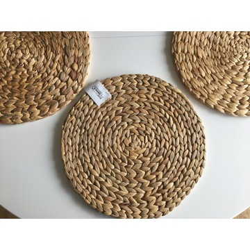 Podkładki na stół okrągłe, z plecionki, Ikea SORAE