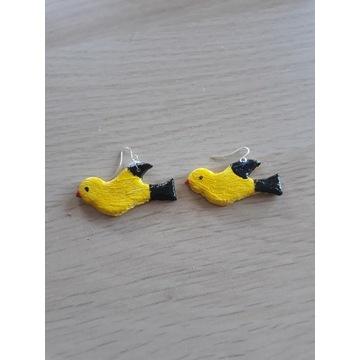 Kolczyki ręcznie robione ptaszki