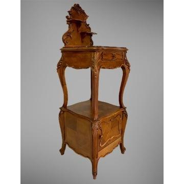 Unikatowa szafka Rocaille nakastlik Francja XIX w.