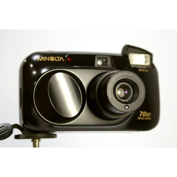Minolta Riva Zoom 70w 28-70mm film 35mm lomo
